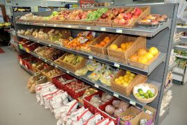 Lochcarron Food Centre stocks fresh fruit and vegetables as well as prepacked butcher's meat.
