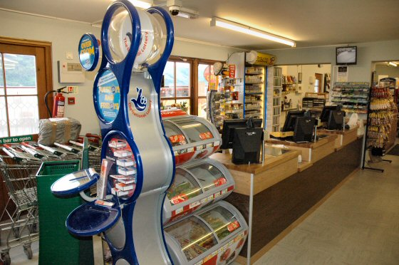 The Lochcarron Food Centre has an on-line National Lottery terminal.